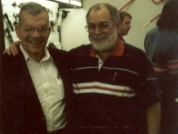 Bob Wesbrooks and Sam Jamison at a 1996 meeting in Wichita Falls. Jamison was Wesbrooks' top salesman for 10 years.