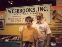 Bob Wesbrooks and daughter Lori at NTDRA Tire Show in Orlando in 1993.
