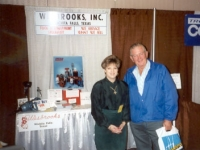 Bob Boydston of Westley Triangle Truck Stop during WATSO Truck Stop Show in Reno in 1994. With him is Lori Wesbrooks Stone.