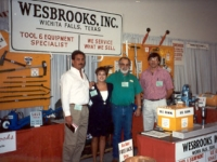 Welcoming customers to the Wesbrooks booth at the NATSO Truck Stop Show in Las Vegas are: Carl Stone, Lori Wesbrooks Stone, Bob Wesbrooks and Mike Grauerholz.
