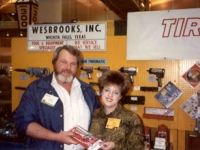 Grease gun winner with Lori Wesbrooks Stone at the NATSO Truck Stop Show in New Orleans in 1991.