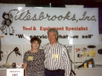 Dave Latimer, Petro Lube Operations Manager, and Lori Wesbrooks Stone at the 1996 NATSO Truck Stop Show in San Antonio.